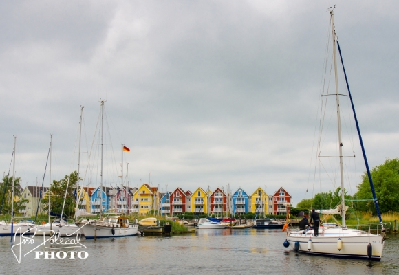 28 of May, 2017, Editorial photo of Greifswald houses and ships, Greifswald, Germany